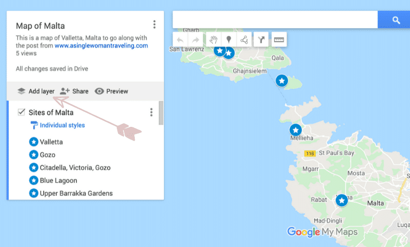Making a Map in Google to Send